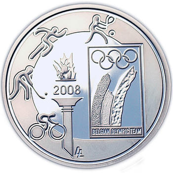 Olympic Games  Ag 10 EUR Proof Belg. 08 - 1