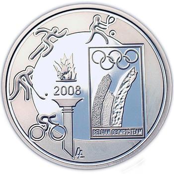 Olympic Games  Ag 10 EUR Proof Belg. 08 - 1
