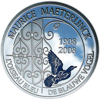 Maeterlinck Ag 10 EUR Proof Belg. 08 - 1