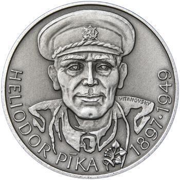 Heliodor Píka - stříbro 28 mm patina - 1