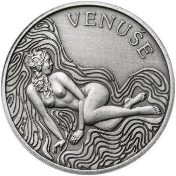 Venuše 25 mm stříbro patina - 1