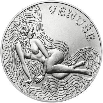 Venuše 25 mm stříbro b.k. - 1