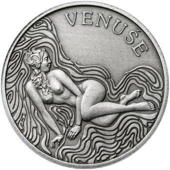 Venuše 50 mm stříbro patina - 1