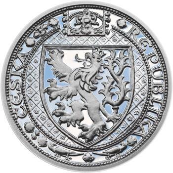Lev a Orlice - stříbro malá Proof - 1