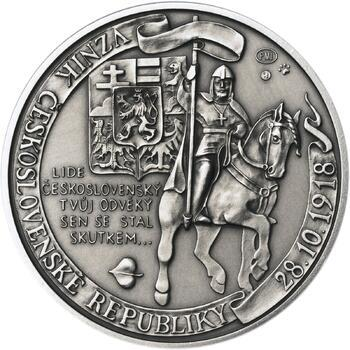 Muži 28. října - stříbro 1 Oz patina - 1