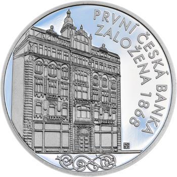 První česká banka - Živnostenská banka pro Čechy a Moravu - 1 Oz stříbro Proof - 1