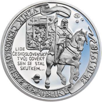 Muži 28. října - stříbro malá Proof - 1