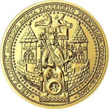 750 let od založení Menšího Města pražského Přemyslem Otakarem II. - zlato b.k. - 1