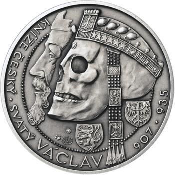 Relikvie Sv. Václava - vzor 1 - 1 Oz Ag patina - 1