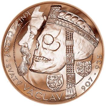 Relikvie Sv. Václava - vzor 1 -  1 Oz Měď b.k. - 1