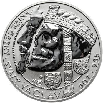 Relikvie Sv. Václava - vzor 1 - 1 Oz Ag REVERSE Proof - 1