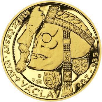 Relikvie Sv. Václava - vzor 1 -  1/2 Oz zlato Proof - 1