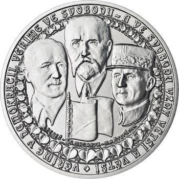 Vznik ČSR - stříbro 1 Oz b.k. - 1