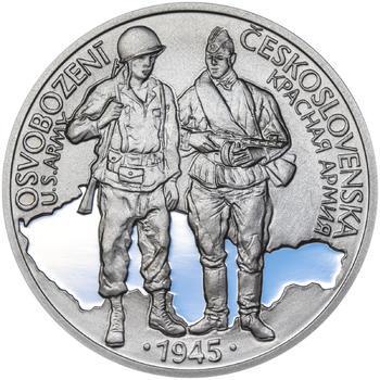 Osvobození Československa 8.5.1945 - 28 mm stříbro Proof - 1