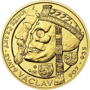 Relikvie Sv. Václava - vzor 1 -  1/2 Oz zlato b.k. - 1