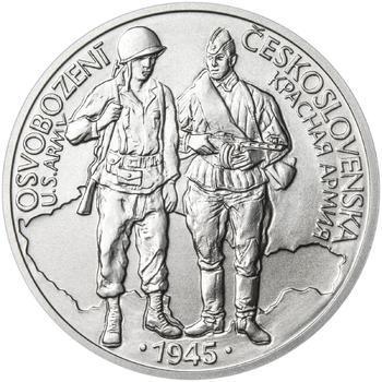 Osvobození Československa 8.5.1945 - 28 mm stříbro b.k. - 1