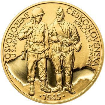 Osvobození Československa 8.5.1945 - 1/2 Oz zlato Proof - 1