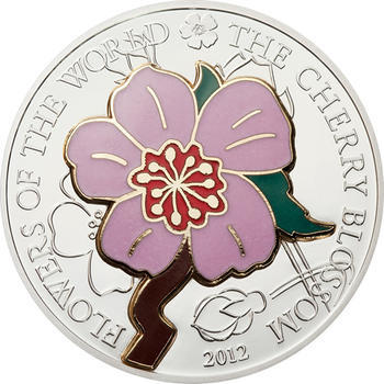 2012 Cook Island - Flowers of the World - Cherry Blossom - 1