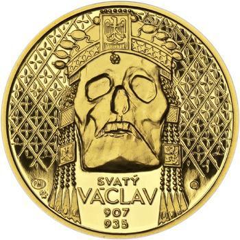 Relikvie Sv. Václava - vzor 2 -  1/2 Oz zlato Proof - 1