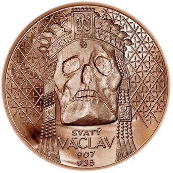 Relikvie Sv. Václava - vzor 2 -  1 Oz Měď b.k. - 1