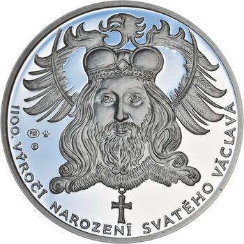 1100. výročí narození sv. Václava - stříbro 1 Oz Proof - 1