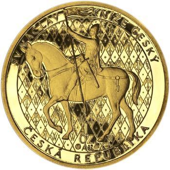 Sv. Václav na koni - Zlato Proof - 1