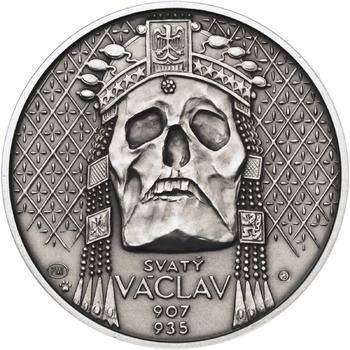 Relikvie Sv. Václava - vzor 2 - 1 Oz Ag patina - 1