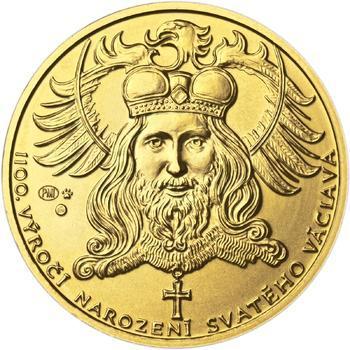 1100. výročí narození sv. Václava - zlatá 1 Oz b.k. - 1