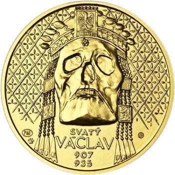 Relikvie Sv. Václava - vzor 2 -  1/2 Oz zlato b.k. - 1