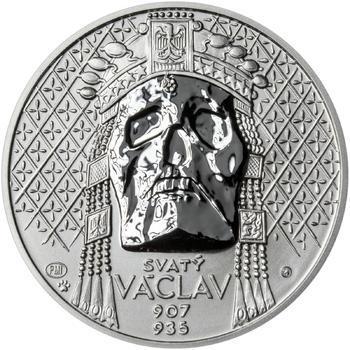 Relikvie Sv. Václava - vzor 2 - 1 Oz Ag REVERSE Proof - 1