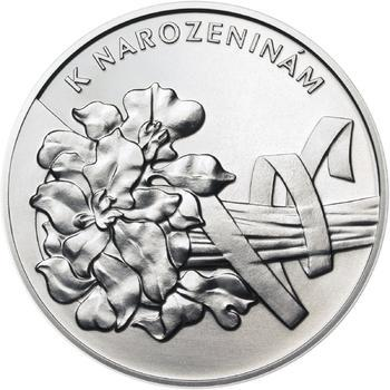 Vše nejlepší k narozeninám 25 mm stříbro b.k. - 1
