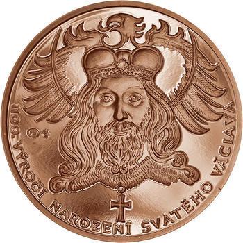 1100. výročí narození sv. Václava -  1 Oz Měď b.k. - 1