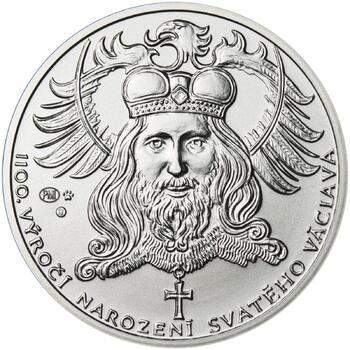1100. výročí narození sv. Václava - stříbro 1 Oz b.k. - 1