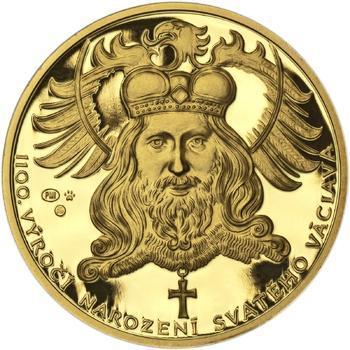 1100. výročí narození sv. Václava - zlatá 1 Oz Proof - 1