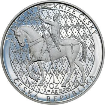 Sv. Václav na koni  - 1 Oz Ag Proof - 1