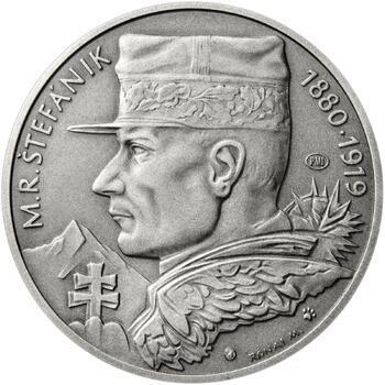 Milan Rastislav Štefánik - 28 mm stříbro patina - 1