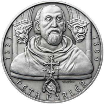 Petr Parléř - 28mm stříbro patina - 1