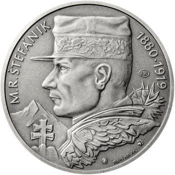 Milan Rastislav Štefánik - 1 Oz stříbro patina - 1