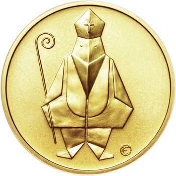 Čert a Mikuláš českého kubisty 25 mm zlato b.k. - 1