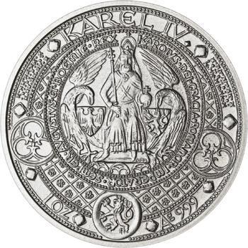Nejkrásnější medailon II. - Královská pečeť - 50 mm Ag b.k. - 1