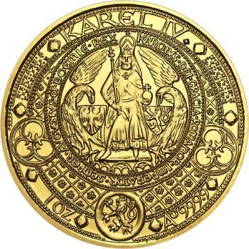 Nejkrásnější medailon II. - Královská pečeť zlato b.k. - 1