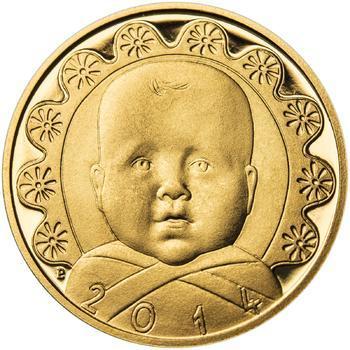 2014 - Dukát k narození dítěte - Miminko v peřince, 2014 - Dukát k narození dítěte - Miminko v peřince - 1