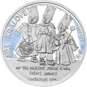 Tři králové 25 mm stříbro Proof - 1