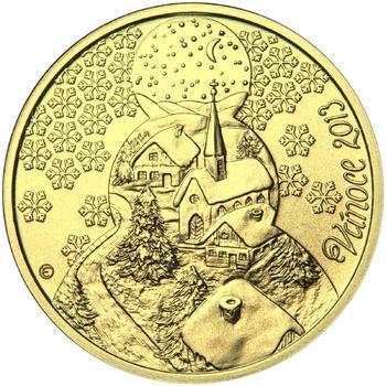 Vánoce 25 mm zlato b.k. - 1