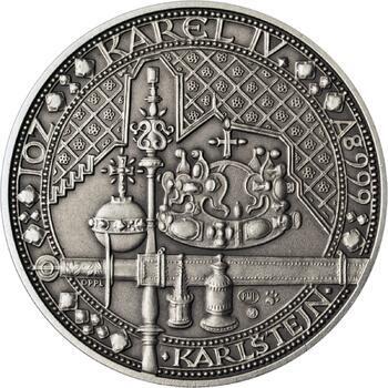 Nejkrásnější medailon IV. - Karlštejn Ag Patina - 1