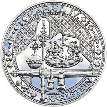 Nejkrásnější medailon IV. Karlštejn - 1 kg Ag Proof-like - 1