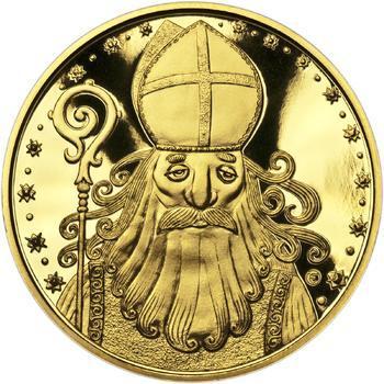 Čert a Mikuláš 25 mm zlato Proof - 1