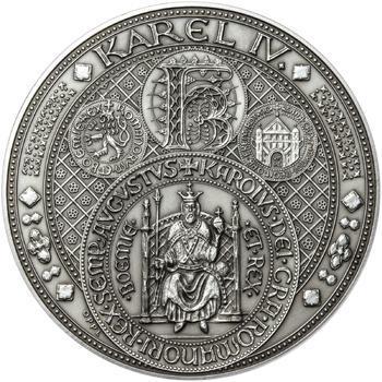 Nejkrásnější medailon III. Císař a král - 1 kg Ag patina - 1