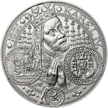 Nejkrásnější medailon I. Nové Město pražské - 1 kg Ag b.k. - 1