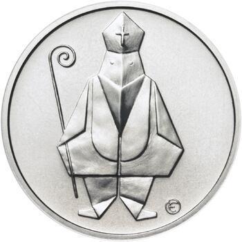 Čert a Mikuláš českého kubisty 50 mm stříbro b.k. - 1
